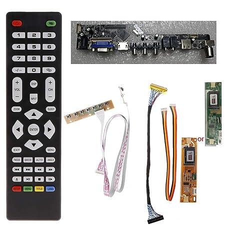 Anjuley - Tarjeta Controlador de TV LCD V56 PC/Interfaz VGA ...