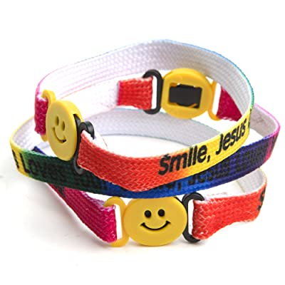 "Smile Jesus Loves You"" Bracelets: Toys & Games,"