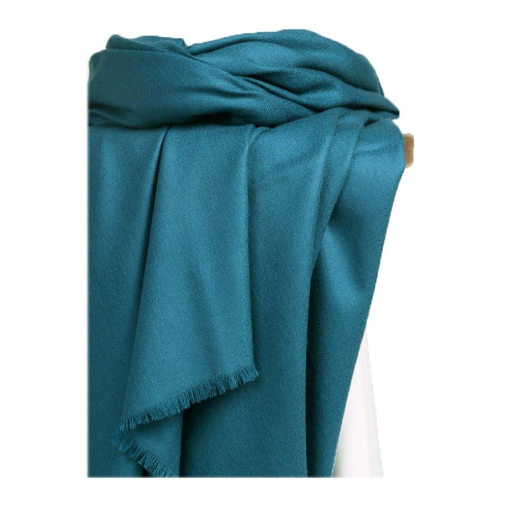 Chal con bufandas bufanda bufanda larga del invierno del color sólido del mantón Chal largo azul 220...