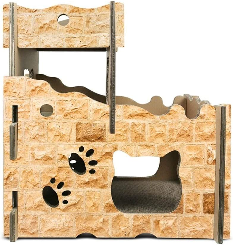 猫用ハウス 猫ヴィラ猫城猫ハウス猫スクラッチボード段ボール紙エコ猫スペース猫ペッパーデラックスキャットハウスペットベッドを送ります