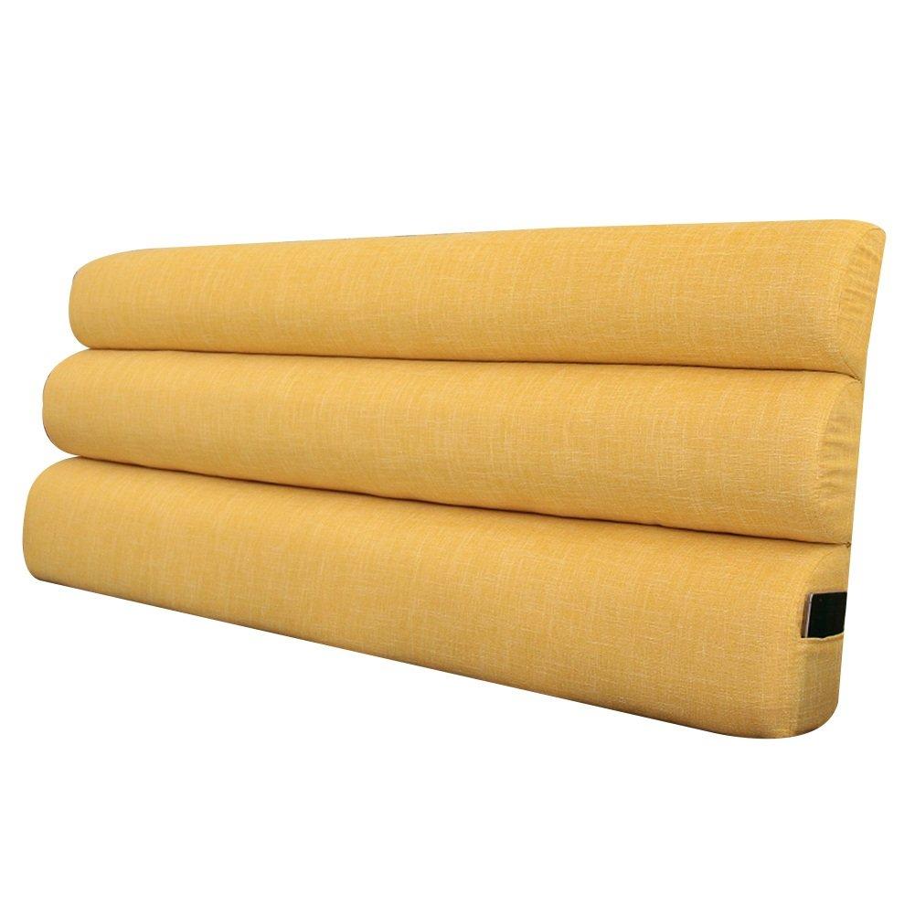 GXY Stoff Kopfteil Kissen Bett Soft Pack großen Rücken Kissen Bett Kissenbezug Kissen Kissen (Farbe : Gelb, größe : 153x10x55cm)
