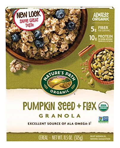 Nature's Path Organic Pumpkin FlaxPlus Granola, Pumpkin Seed + Flax, 11.5 Oz (Packaging may vary) 61f3miw393L