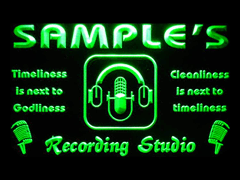 ADVPRO ネームパーソナライズカスタムレコーディングスタジオマイク ネオンライトサイン st4-qm-tm 12