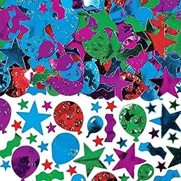 Amscan Globo, serpentinas y Confeti Estrellas Super Valor Paquete, 5 onzas.: Amazon.es: Hogar