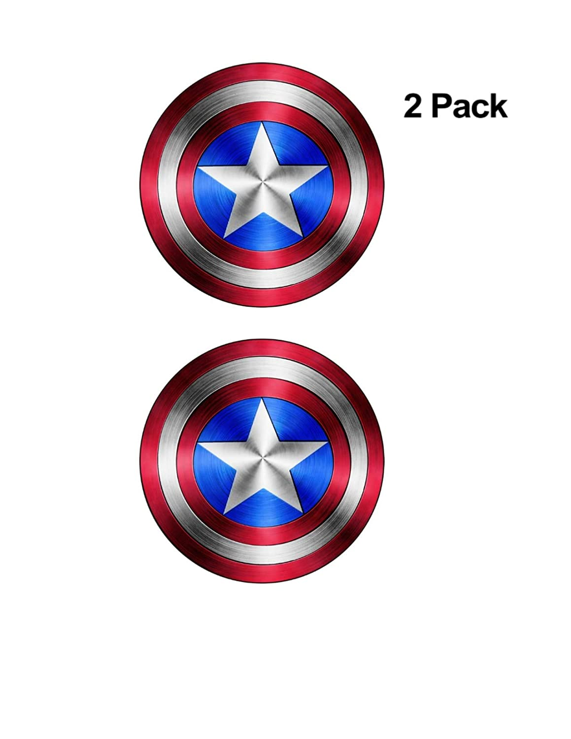 Foxy21 Captain America Shield Vinyl Sticker DecalSIZES 4 x 4