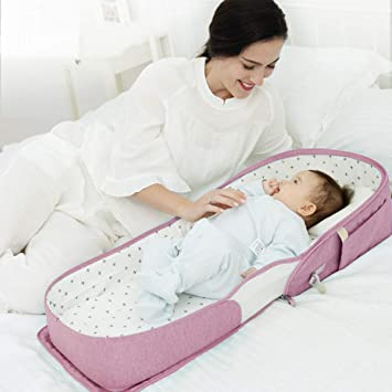 Baby Lounger Backpack with Soft Cotton Mattress SUNVENO Infant Travel Bed Combines Crib Playpen and Changing Station for Newborn Babies 0-12 Months Green