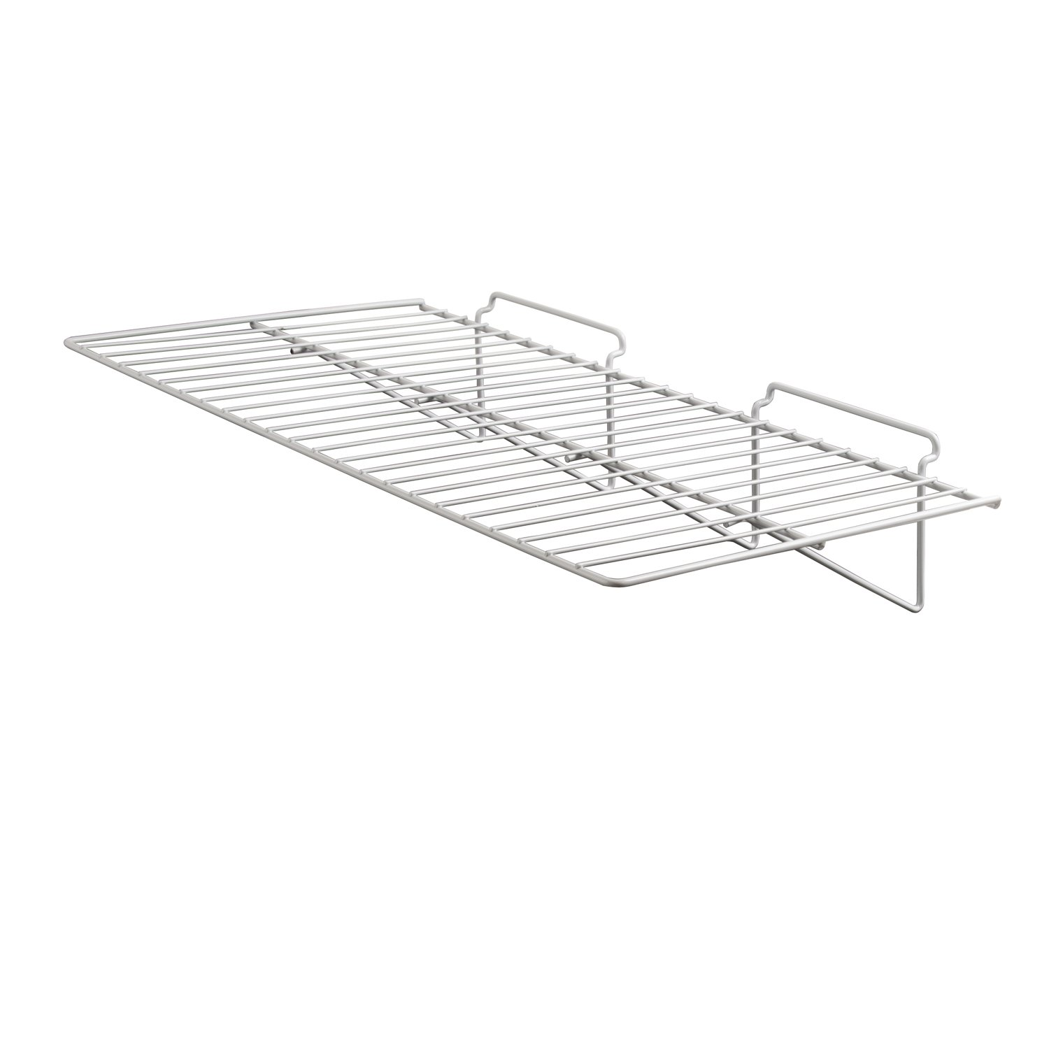 Econoco Commercial Straight Shelf, 24'' Width x 12'' Depth, White (Pack of 6)