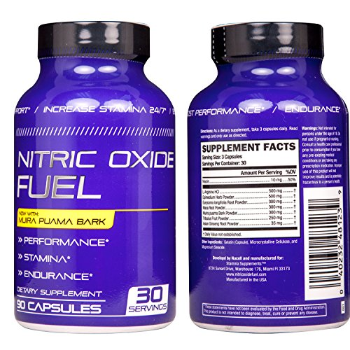 Nitric Oxide Fuel N.1 Effective Booster increase Energy, Stamina, Size, Physical Performance Extra Natural boost formula now with Muira Puama Increase Performance 90 Caps by Nucell (Image #2)