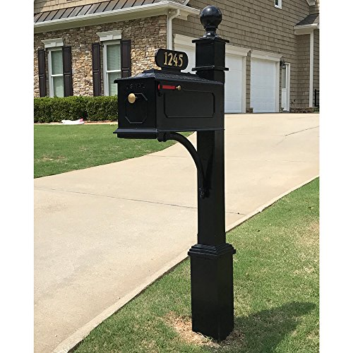 Decorative Bolt Mounted Mailbox Posts - 1