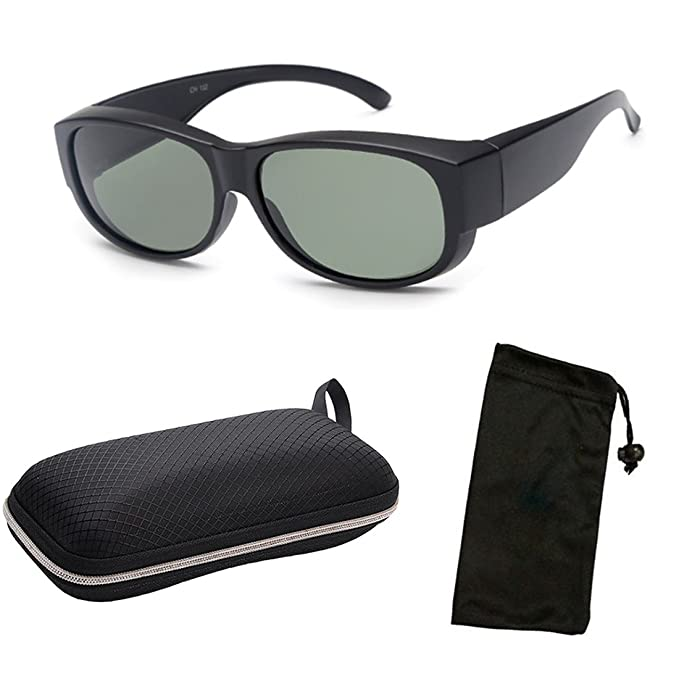 9181a8815553 CPS POLARIZED Sports Lens Fitover Fits Over Wear-Over Sunglasses Cover For Men  Women 100