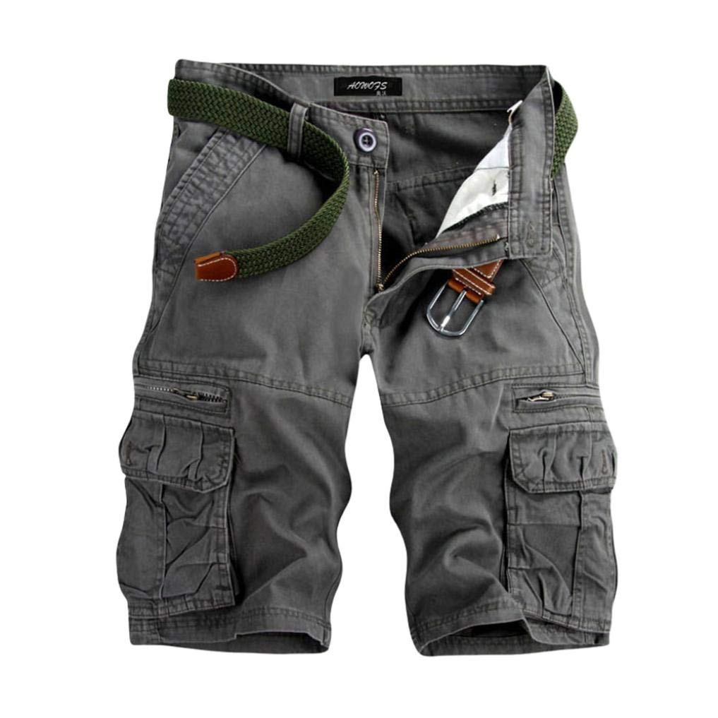 Muramba Clearance Pants Men's Casual Solid Pocket Outdoors Work Shorts