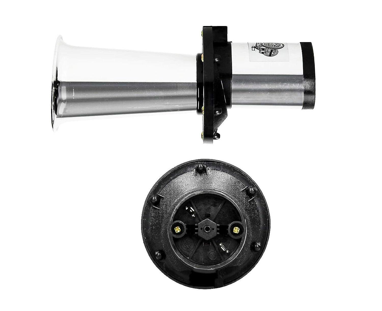 Waltons Signalhorn 12 Volt Fanfare Horn Hupe Auto 110 dB Boot PKW LKW Chrom Neu
