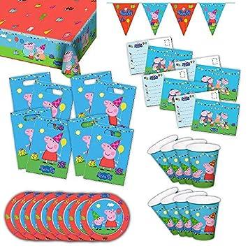Peppa Pig Party Box Original niños Cumpleaños 63 Piezas ...