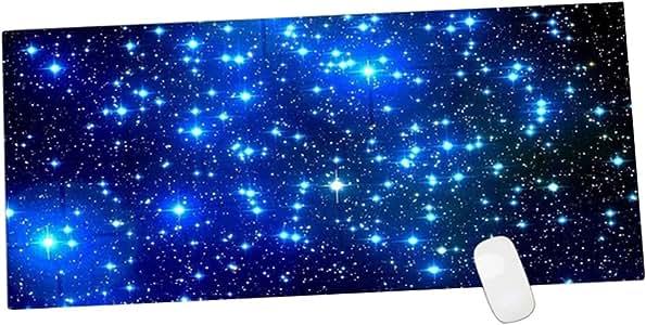 Uywgusag Galaxy Pattern Anti-slip Laptop Computer Gaming Large Mouse Pad Keyboard Mat - Blue