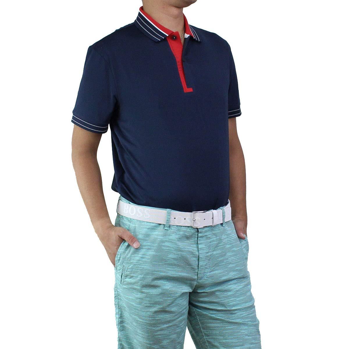 ヒューゴ ボス HUGO BOSS PADDY PRO 1 パディ プロ ポロシャツ 半袖 ゴルフウェア 50403515 10208323 410 ネイビー系 サイズ:#XL [並行輸入品]   B07SWJHW48