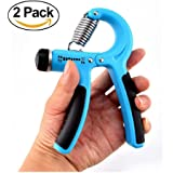 Sportszu Hand Grip Strengthener , Hand Exerciser for Increasing Hand Wrist Forearm, Easily Adjust Resistance from 10-40kg (22-88Lbs) (Set of 2)