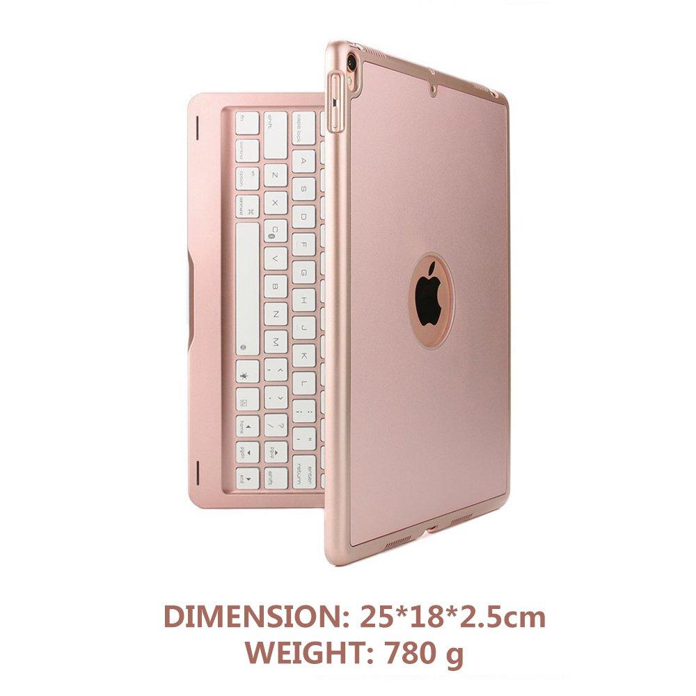 D DINGRICH iPad 9.7 2018 Aluminio Bluetooth Wireless retroiluminaci/ón Teclado Funda // Air 2// Air 1// Pro 9.7 Teclado Funda 5th Gen 6th Gen iPad 9.7 2017