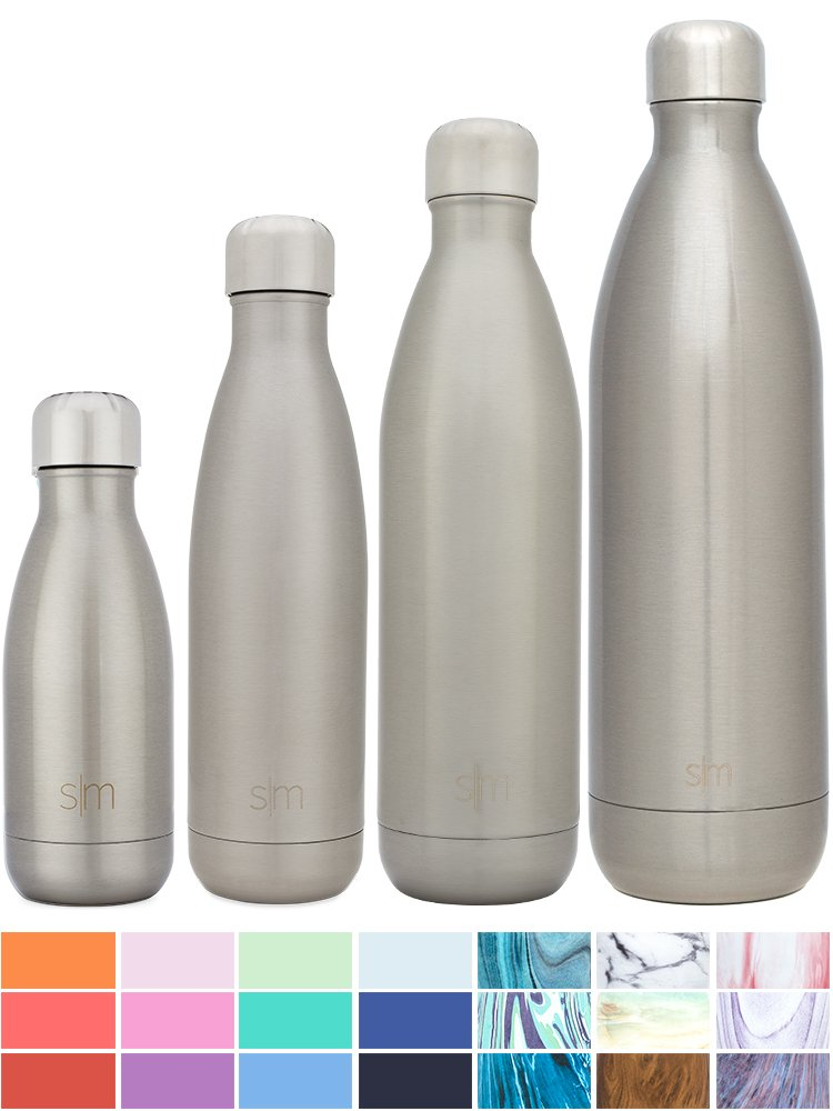 Simple Modern Stainless Steel Vacuum Insulated Double-Walled Wave Bottle, 9oz - Simple Stainless by Simple Modern