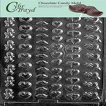 Cybrtrayd V156 Love Lolly Valentine Chocolate Candy Mold
