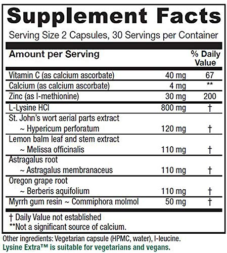 lysine extra supplemental facts