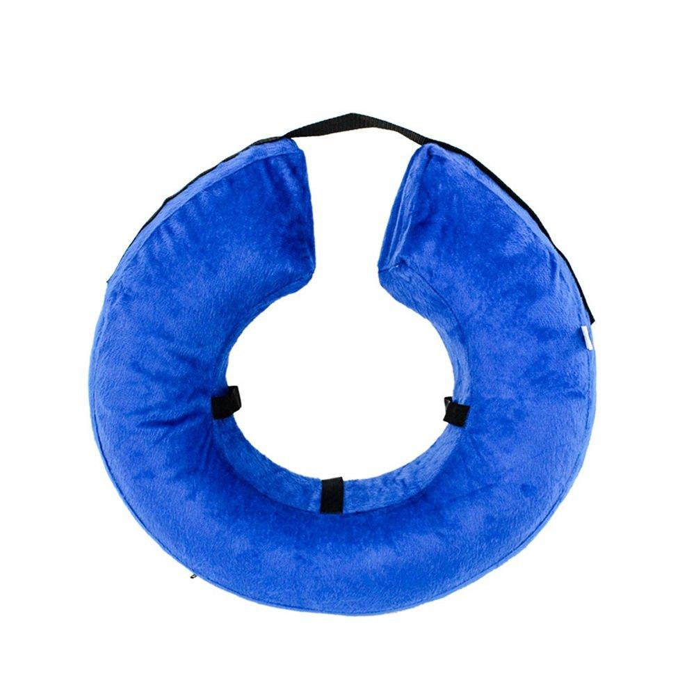 Mallalah Collerettes Gonflable De Rétablissement pour Chiens et Chats Collier Protecteur de Récupération Confortable Ajustable Lavable (L)