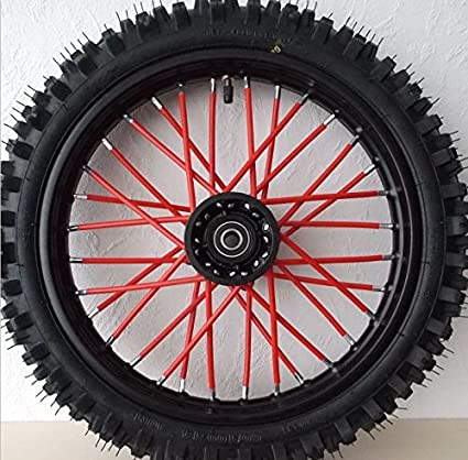 Tencasi Wheel Rim Spoke Skins Covers Wrap Decor Protector Kit for Kawasaki KX65 KX85 KX125 KX250F KX250 KX450F KLX450R KX250F Universal