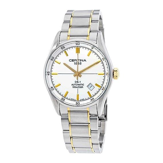 Certina DS 1 - Reloj de automático para hombre, con correa de acero inoxidable, color multicolor: Amazon.es: Relojes