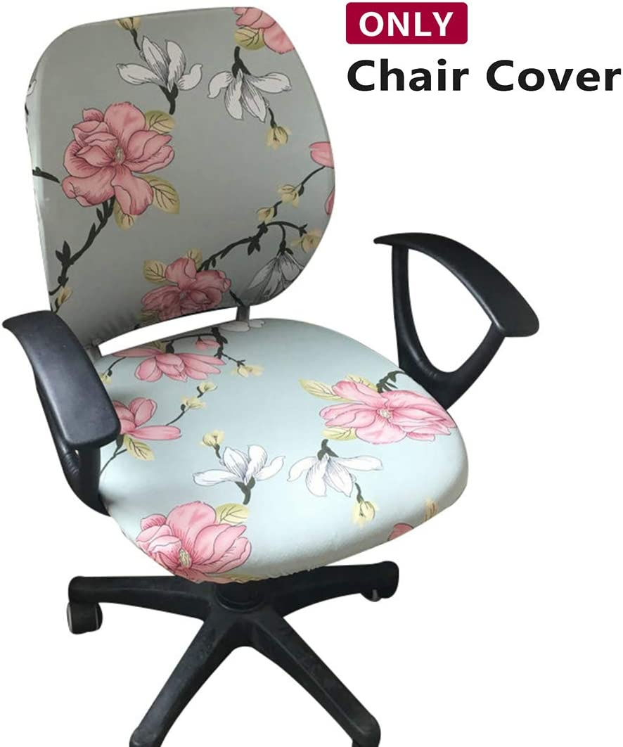 Jiyaru Rotating Armchair Slipcover Removable Stretch Computer Office Chair Cover -1 (Only Cover)