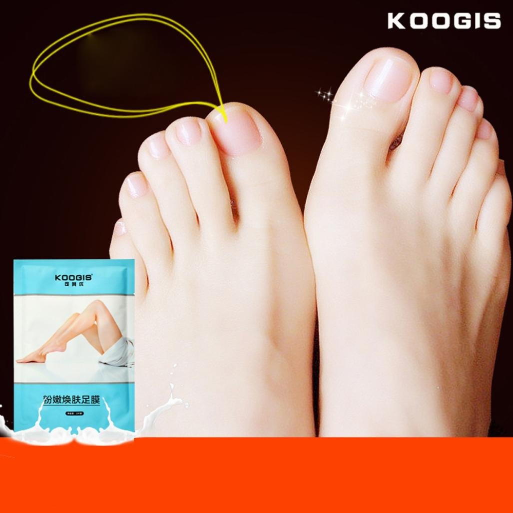 Innovant Exfoliant Pieds Fresh Masque, OverDose 1 Pcs Pied Dead-Skin-Eliminating Foot Easy Peel Pack