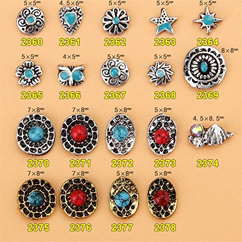 Kamas Retro style 10pcs Nail rhinestone Starfish Flower Alloy nail accessories nail jewelry crystal nail art - (Color: 2378) ()