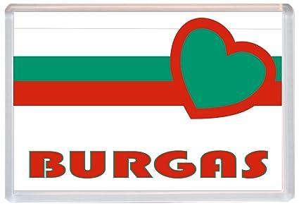 Burgas - Love Bulgaria/Búlgaro pueblos y ciudades - Jumbo imán ...