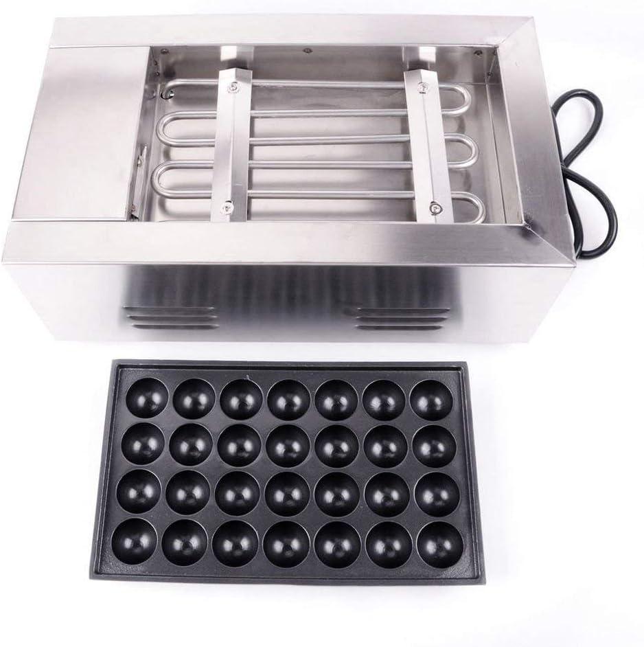 INTBUYING 110V Takoyaki Maker Japanese Octopus Fish Ball 28Pcs Cake Machine Nonstick Molds
