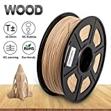 Real Wood 3D Print Filament,1.75 mm PLA Wood Filament,Dimensional Accuracy +/- 0.02 mm,1KG Spool(2.2lbs) - Enotepad Non-Block Filament (Wood)