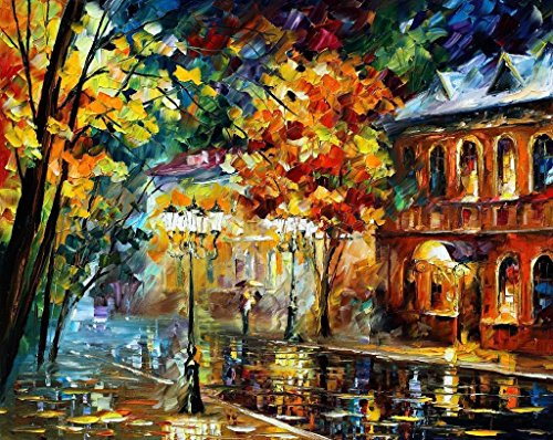 Old Original Art Painting - OLD MOSCOW is an OVERSIZED, ONE-OF-A-KIND, ORIGINAL OIL PAINTING ON CANVAS by Leonid AFREMOV