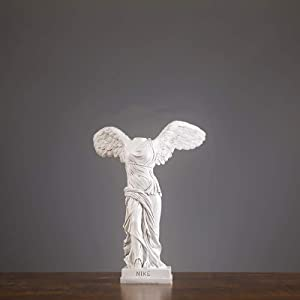 YB&GQ Winged Victory of Statue,Goddess of Samothrace Figurine with Base,Arts Crafts Sculpture from The Louvre Decor Sculpture Whitea 25x17cm(10x7inch)