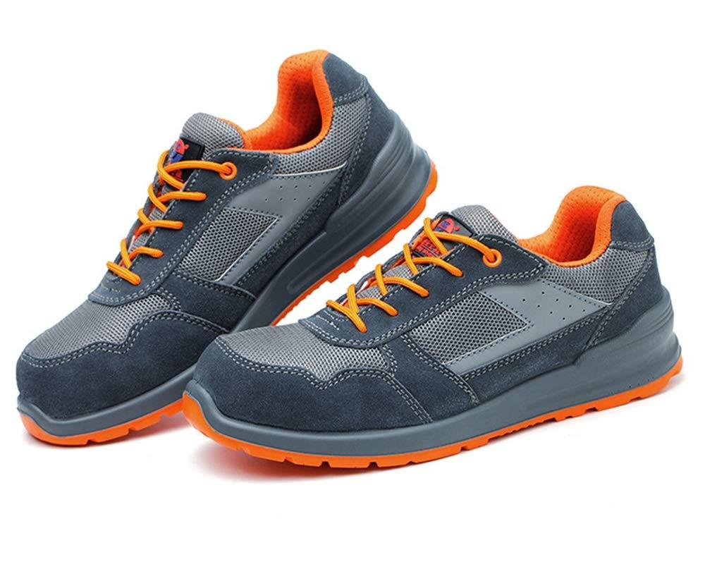 ZHRUI Sicherheitsschuhe für Männer Große Große Große Größe Breathable Non Slip Punktion Reistant Schuhe (Farbe   Grau Größe   EU 43) c59498
