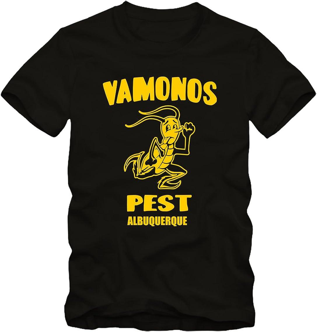 M Uomo, Nero Bisura T-Shirt Breaking Bad Vamonos Pest
