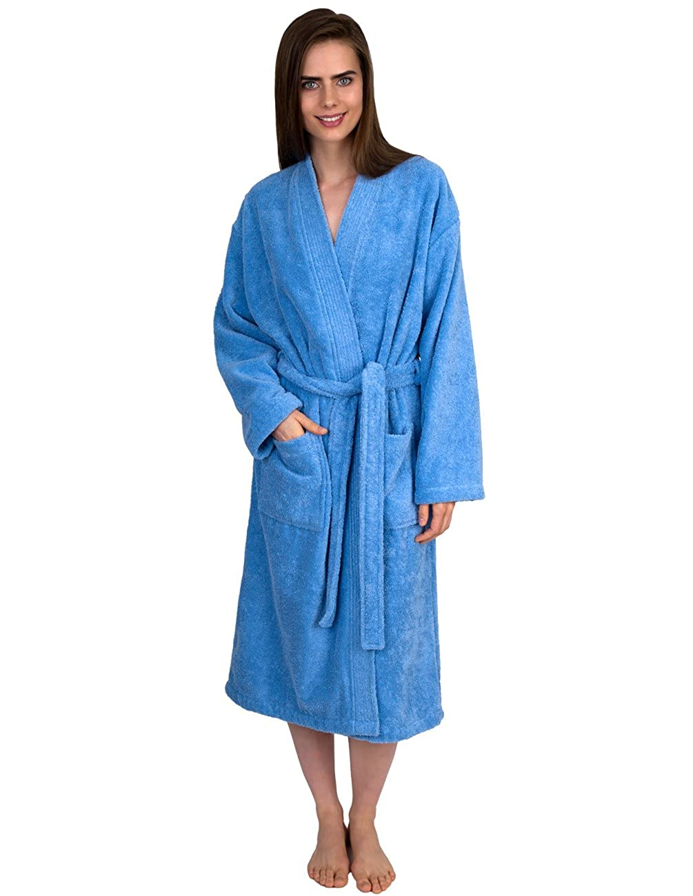 e671daec39 TowelSelections Women s Robe Organic Cotton Terry Kimono Bathrobe Made in  Turkey at Amazon Women s Clothing store