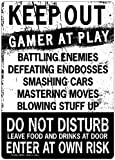 New Keep Out Gamer At Play Enter At Own Risk Funny Novelty Tin Sign