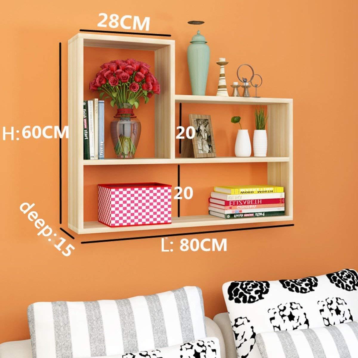 Beige Willesego Wandregal Wandregal Bücherregal Wandregal Wanddekoration Küche Schlafzimmer Kreativ (Farbe  Weiß) (Farbe   Beige, Größe   -)