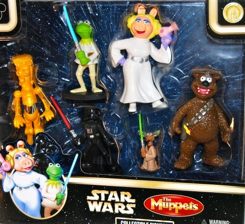 Disney Star Wars The Muppets Collectible Figures Toy Set ()