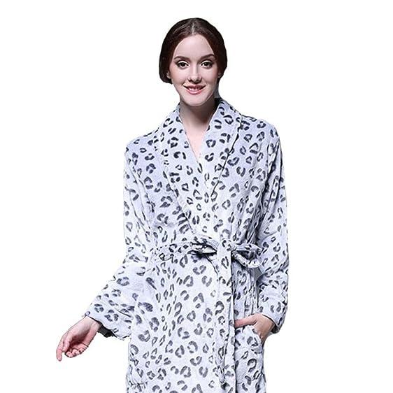 moxin Ladies Coral Fleece Super Soft Thick Luxurious Bath Robe ...