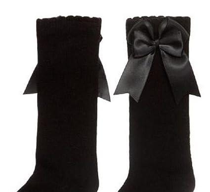 682bc3b4d Spanish Baby Girls Knee High Socks Double Bow Romany Toddler Babies School   Amazon.co.uk  Clothing