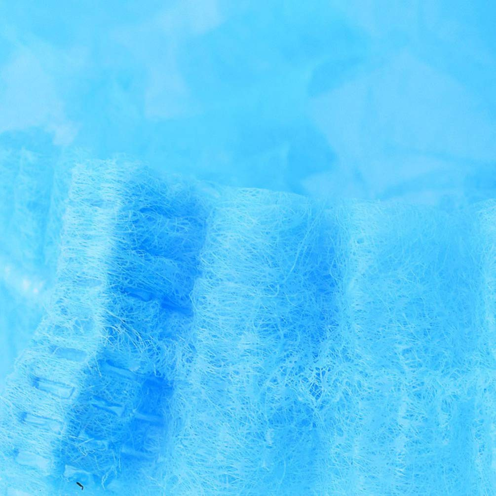 Blue Milisten 40pcs Disposable Hair Nets Bouffant Scurb Caps Non Woven Head Covers Nets for Hospital Salon Kitchen Industries