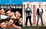 Neighbors + This is the End Blu Ray Set Comedy Seth Rogan 2 Movies double feature bundle
