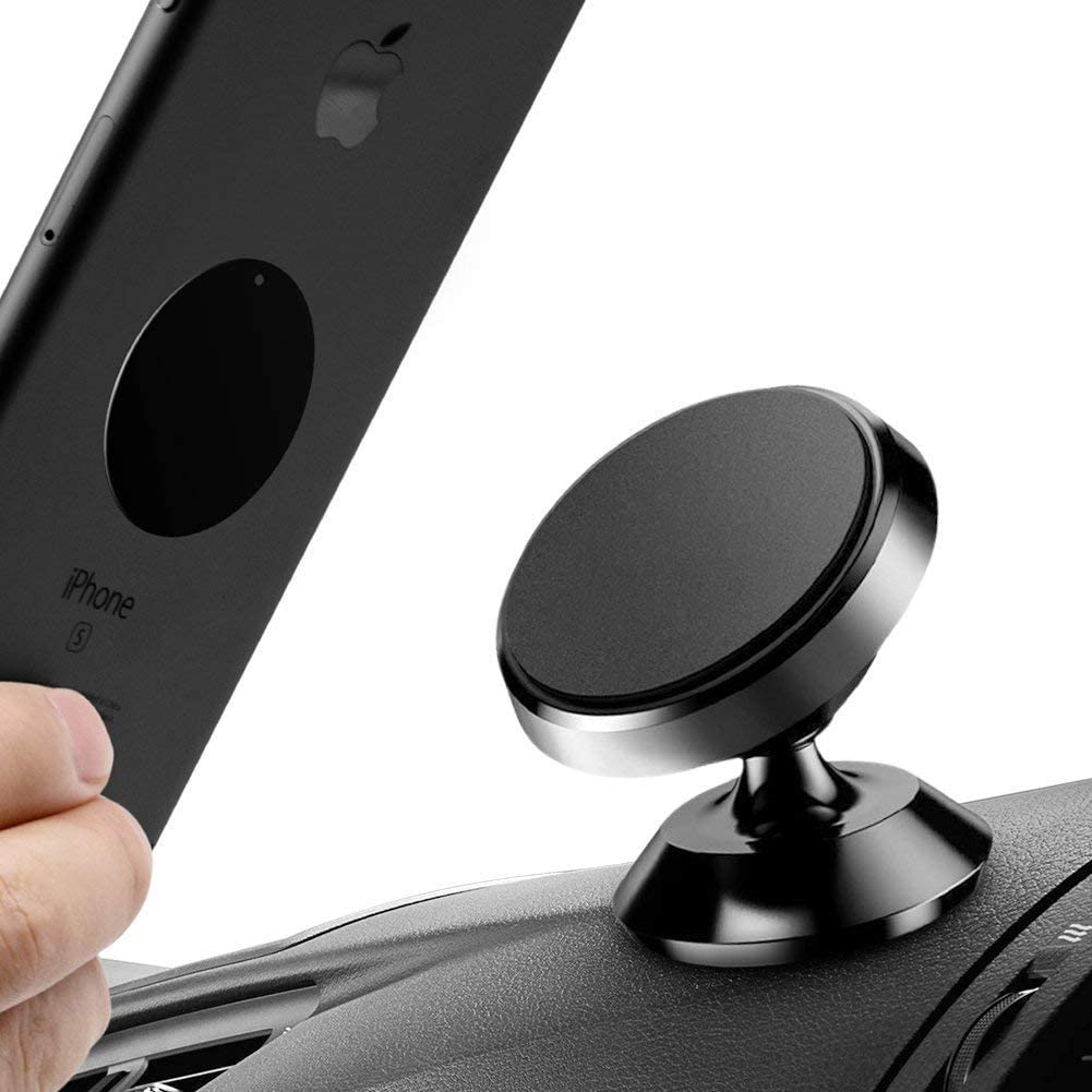 Universal 360 Degree Rotation Magnetic Phone Car Mount Holder,Black Black