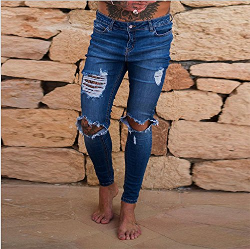 Vaqueros Denim Jeans Super Stretch Skinny Jeans Hot New Ripped Distressed Denim Pantalones Handsome Cool