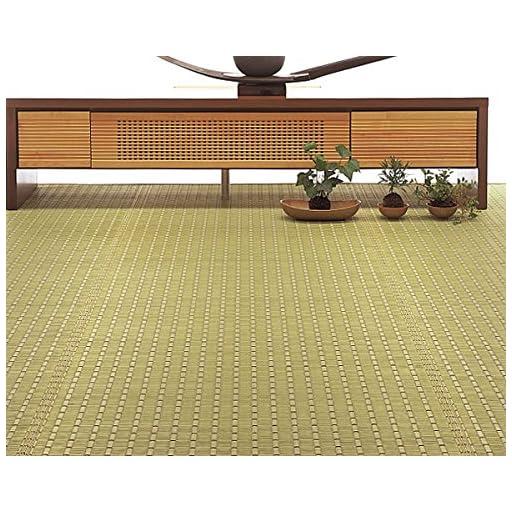 天然い草の香りに癒される い草ラグ 「夢路」 江戸間2畳 174×174cm ブラウン 国産品