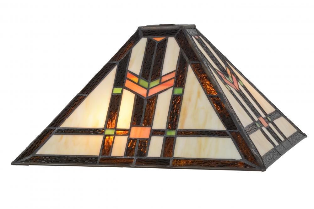 Meyda Tiffany 119637 Prairie Wheat Lamp Shade, 14 sq. in.