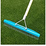 Grandi Groom Artificial Turf Rake / Carpet Groomer Brush - New With Handle